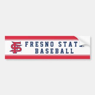 Fresno State Baseball Mark Bumper Stickers