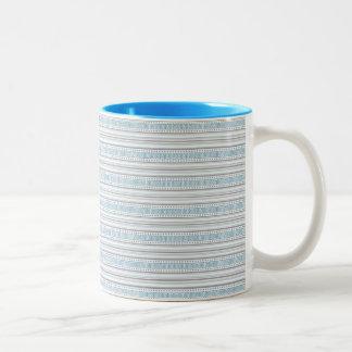 Fret Stripe Cornflower Mug
