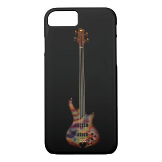 Fretless Bass Guitar (rainbow) iPhone 8/7 Case