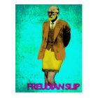 Freudian Slip Grunge Pop Art Meme Postcard
