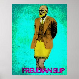 Freudian Slip Grunge Pop Art Meme Poster