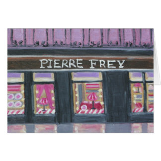 FREY DE PIERRE : CARTE POUR NOTES DE PARIS