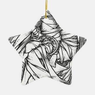 Frey seated on the throne of Odin Ceramic Star Ornament