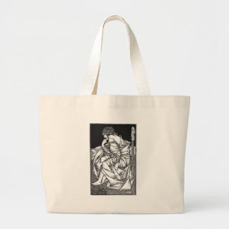 Frey seated on the throne of Odin Large Tote Bag