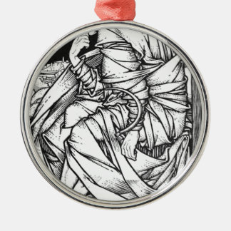 Frey seated on the throne of Odin Metal Ornament