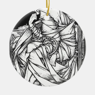 Frey seated on the throne of Odin Round Ceramic Ornament