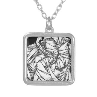 Frey seated on the throne of Odin Silver Plated Necklace