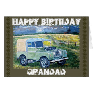 """FREYA"" Birthday Greetings Card for Grandad."
