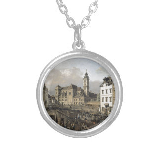 Freyung in Vienna, View from the southeast Round Pendant Necklace