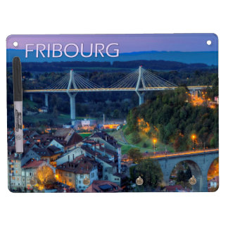 Fribourg city, Switzerland Dry Erase Board With Keychain Holder