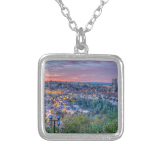 Fribourg city, Switzerland Silver Plated Necklace