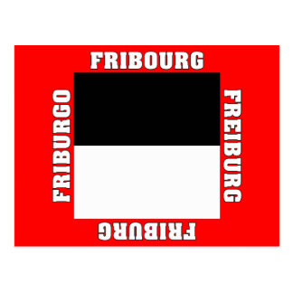 Fribourg Switzerland Canton Flag Postcards