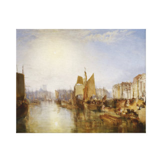 frick the harbor of dieppe canvas print