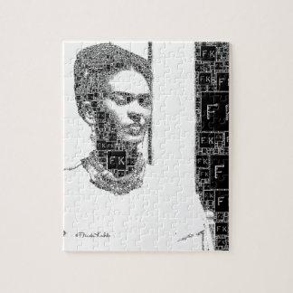 Frida Kahlo Black and White Portrait Jigsaw Puzzle