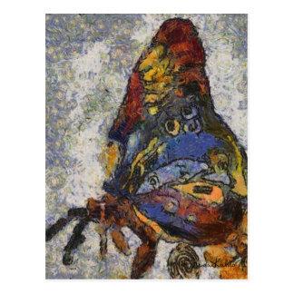 Frida Kahlo Butterfly Monet Inspired Postcard