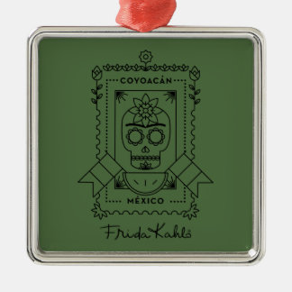 Frida Kahlo | Coyoacán Silver-Colored Square Ornament