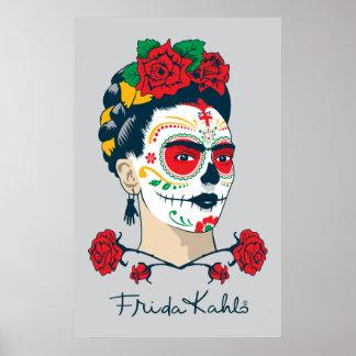 Frida Kahlo | El Día de los Muertos Poster
