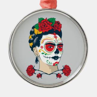Frida Kahlo | El Día de los Muertos Silver-Colored Round Ornament