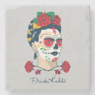Frida Kahlo | El Día de los Muertos Stone Coaster