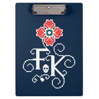 Frida Kahlo | Floral Tribute Clipboard