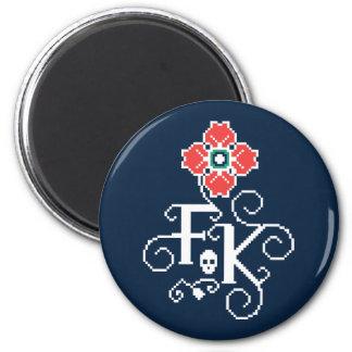 Frida Kahlo | Floral Tribute Magnet