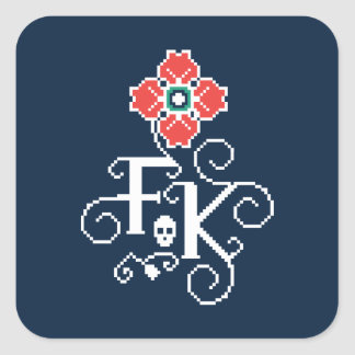 Frida Kahlo | Floral Tribute Square Sticker