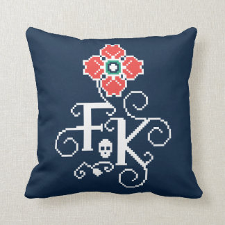 Frida Kahlo | Floral Tribute Throw Pillow