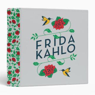 Frida Kahlo | Floral Typography 3 Ring Binders