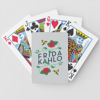 Frida Kahlo | Floral Typography Bicycle Playing Cards
