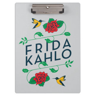 Frida Kahlo | Floral Typography Clipboard
