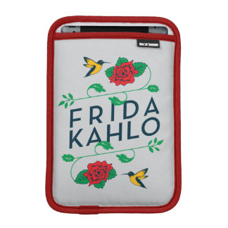 Frida Kahlo | Floral Typography iPad Mini Sleeves