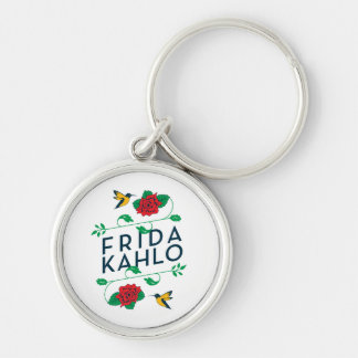 Frida Kahlo | Floral Typography Keychain