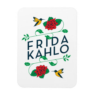 Frida Kahlo   Floral Typography Magnet