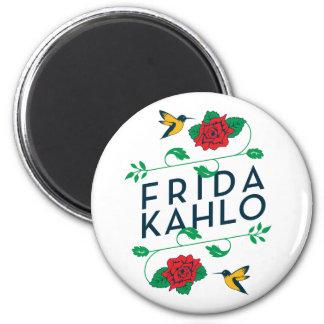 Frida Kahlo | Floral Typography Magnet