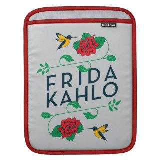 Frida Kahlo | Floral Typography Sleeves For iPads