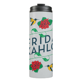 Frida Kahlo | Floral Typography Thermal Tumbler