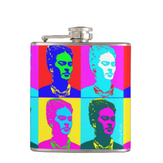 Frida Kahlo Inspired Portrait Hip Flask