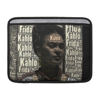 Frida Kahlo Lettering Portrait MacBook Sleeve