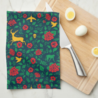 Frida Kahlo | Life Symbols Kitchen Towel