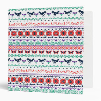 Frida Kahlo | Mexican Pattern 3 Ring Binder