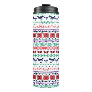 Frida Kahlo | Mexican Pattern Thermal Tumbler