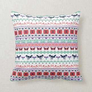 Frida Kahlo | Mexican Pattern Throw Pillow
