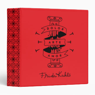 Frida Kahlo | Pain Art Love 3 Ring Binders