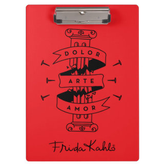 Frida Kahlo | Pain Art Love Clipboard