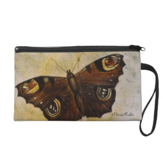 Frida Kahlo Painted Butterfly Wristlet