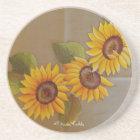Frida Kahlo Painted Sunflowers Coaster
