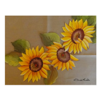 Frida Kahlo Painted Sunflowers Postcard