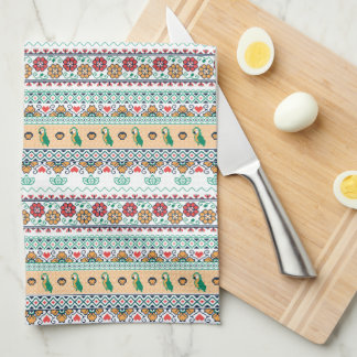 Frida Kahlo | Patrón de Colores Kitchen Towel