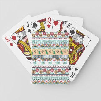 Frida Kahlo | Patrón de Colores Playing Cards