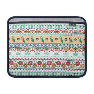 Frida Kahlo | Patrón de Colores Sleeve For MacBook Air